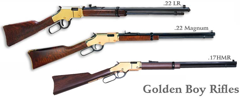Henry Goldenboy 22lr, Henry Goldenboy 22wm, and Henry Goldenboy 17hmr