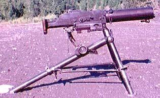 Schwarzlose M7/12 on correct tripod
