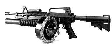 Colt CAR-15 with 90 round drum magazine