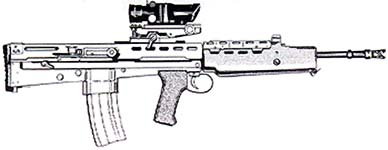 Royal British Army Individual Weapon AKA SA80 Assault rifle (5.56mm)
