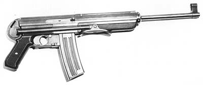 German prototype Kurtz 7.92 SMG (Possibly manufactured by ERMA)