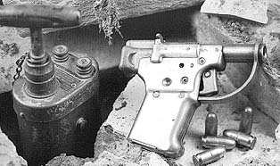 Liberator Pistol from WWII issued to OSS. Caliber .45 ACP