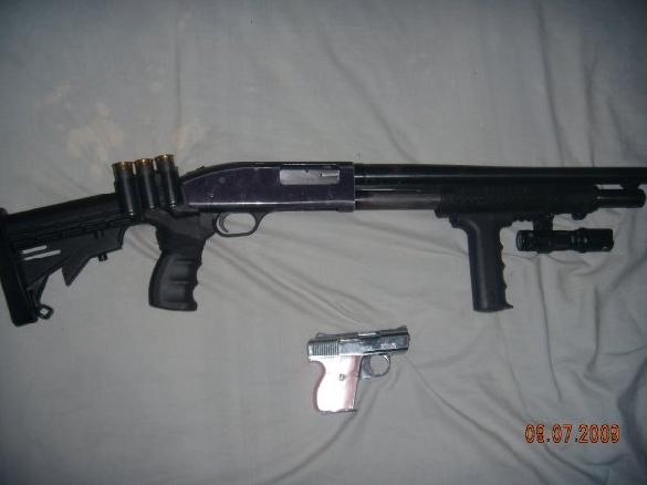 Mossberg 500a 12g. tactical & Lorcin .25auto