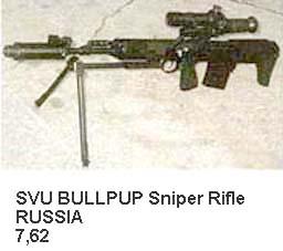 SVU Bullpup Sniper Rifle (Russia)