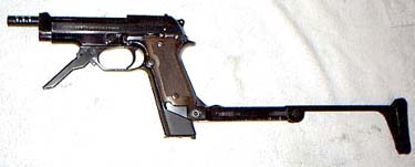 Beretta 93R with detachable stock