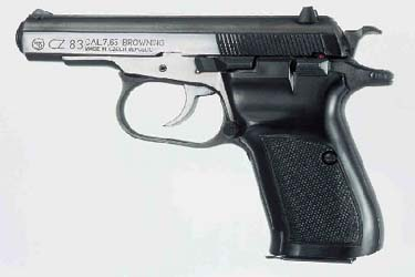 CZ-83 7.65 Browning Short/9mm Browing Short/9mm Makarov