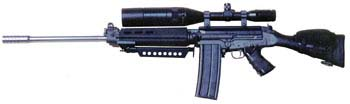 FN-FAL Sniper Rifle w/custom muzzle brake & 30rd magazine