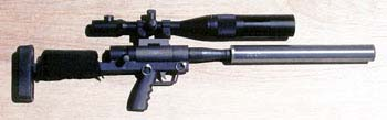 .50 BMG short barrel rifle Suppressor and 40x Nightforce scope