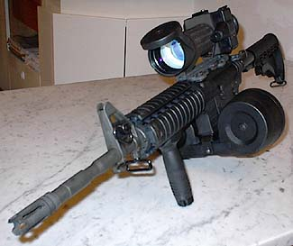 Colt M4A1 with Sopelem OB50 (French 6x IIIrd gen night vision scope)
