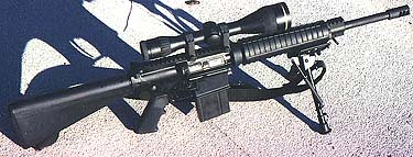ArmaLite AR10-A4 Carbine with Harris bipod and Leupold 3.5-14X50 Scope.