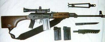 Valmet 78, Original mags, Fiskars bayonet, bi-pod, Leoplod 3X, 7.62 Nato