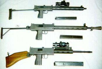 RPB (from top) M11 .380, M10 9mm, M10 .45 (Tasco Pro-point red dot sights)