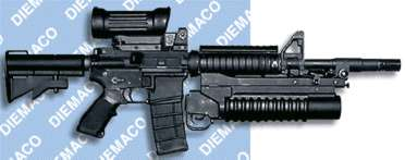 C8 - Canadian version of M4 w/40MM grenade launcher
