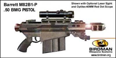 Barrett M82B1-P .50 BMG Pistol