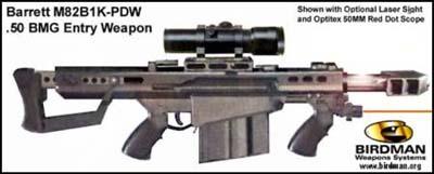 Barrett M82B1K-PDW .50 BMG Entry Weapon