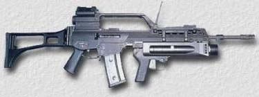 HK G36 with grenade launcher