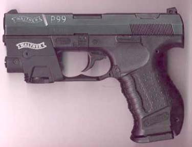 Walther P99 w/laser