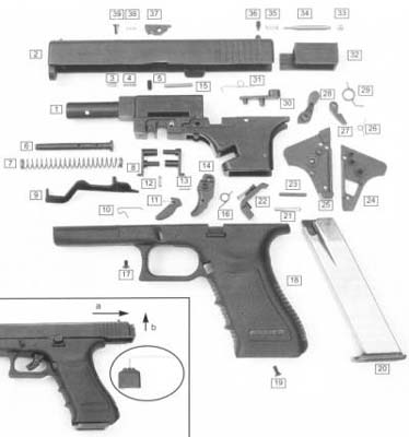 Glock Model 17 exploded view