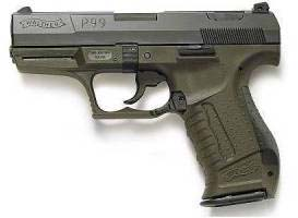 Walther P99 with seldom seen green frame