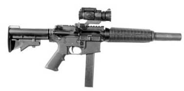 Talon-SD (9mm) integrally suppressed 9mm upper for Colt 635.