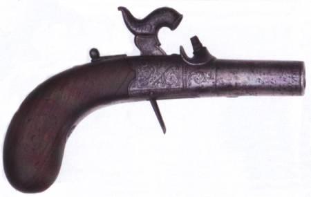 Booth pocket percussion pistol (British)