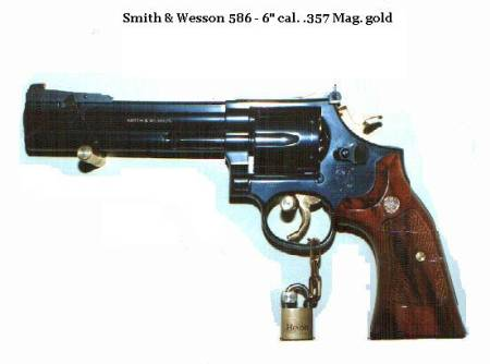 S&W 586 Gold