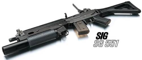 SIG SG551 HB with GL 5040/5041 grenade launche