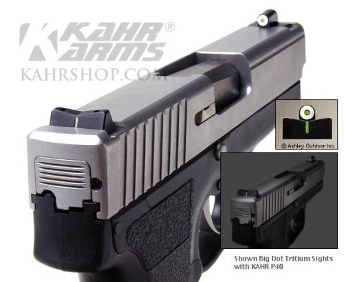 KAHR P40 with Big Dot Tritium Sights