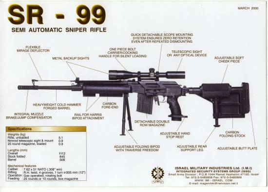 Galil 99SR Sniper Rifle