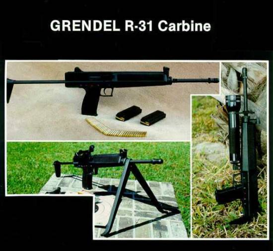 GRENDEL R31 (.22-WMR semiauto carbine).  30 Rd. Magazine