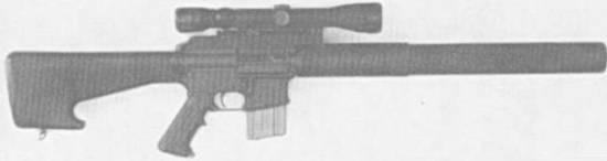 GRENDEL S16 (7.62-NATO, AR15-based semiauto sniper rifle)
