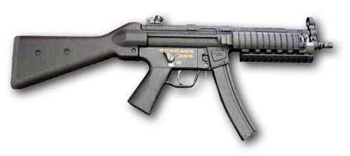 HK MP5N4 (an MP5A4 with RIS kit