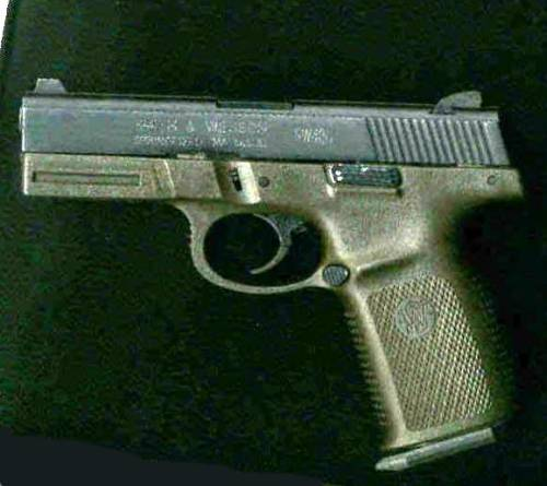 S&W SW40G, in combat green