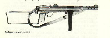 M45 B Swedish Submachine Gun
