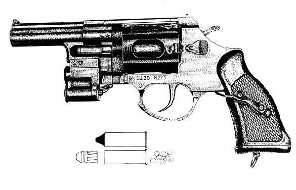 OTs-20 GNOM revolver 12.5mm