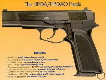 Browning HP-DA/HP-DAO 9mm Pistol