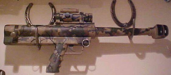 Maadi Griffen 50 BMG Pistol In a leaf camo