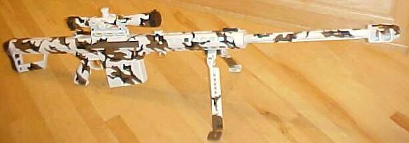 Barret 82A1 in snow camo