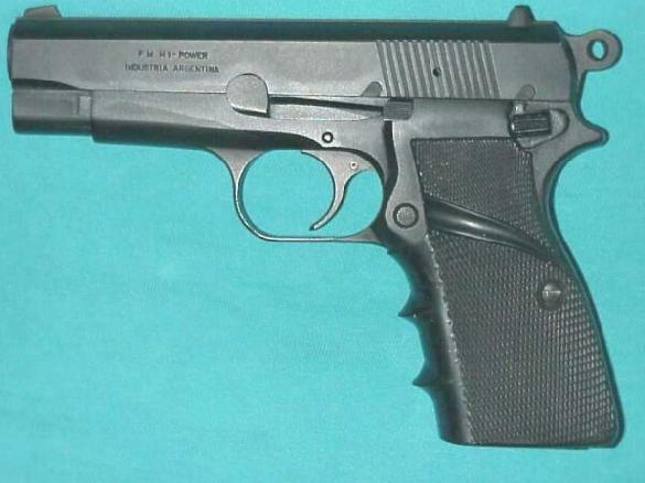Argentinian version of browning Hi-Power: