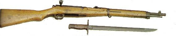 Japanese 6.5mm rifle(and bayonet) used in WWII.