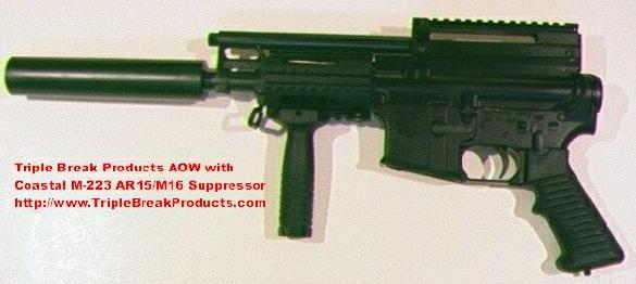 AR-15 Pistol Suppressed