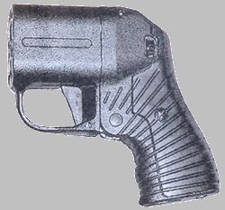 PB-4M Pistol Fires rubber bullets