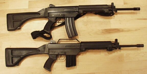Top rifle: Australian Automatic Arms Bottom : Leader Dynamics