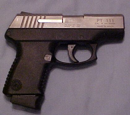 Taurus PT 111 9MM stainless slide poly frame