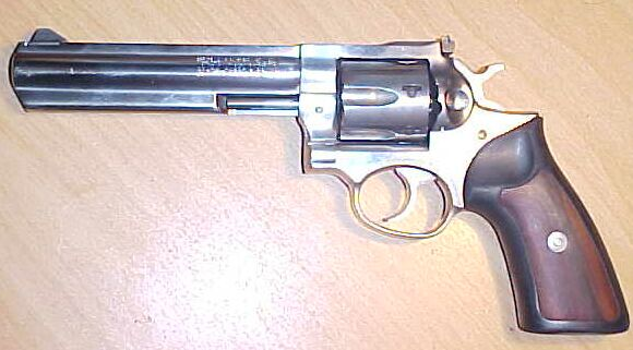 Ruger GP100, stainless steel, 357magnum,6