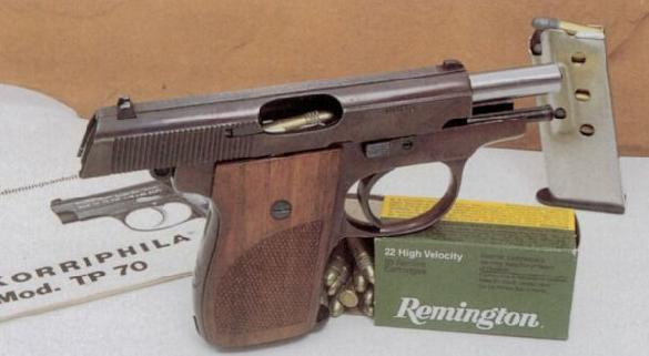 Korriphila TP70 .22LR (6 cartridges in magazine)and 6,35 mm Browning made by Edgar Budischowski