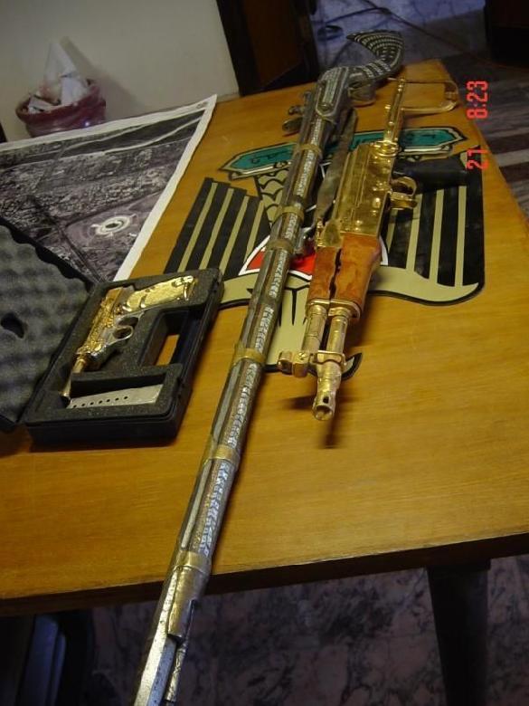 Saddam's Muzzleloading Arab Rifle