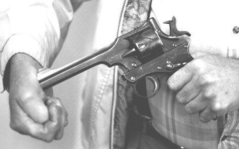Webley Fosbery Automatic Revolver Caliber .455(UK)