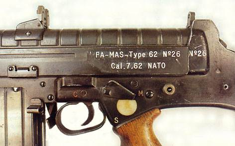 FA-MAS Type 62 in caliber 7.62x51mm NATO