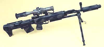 OTs-03AS sniper rifle in 7.62x54mmR caliber by KBP (KBP Instrument Design Bureau, Russia